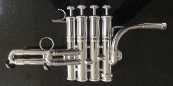 Spencer piccolo trumpet detail